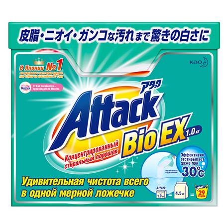 Концентрированный универсальный стиральный порошок bioex attack