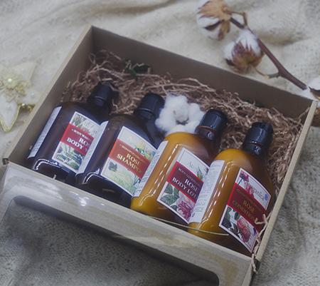 подарочные наборы для волос Подарочный набор зимняя вуаль ausganica