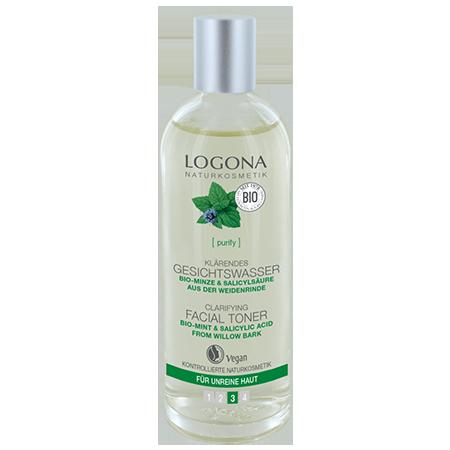 Тоник для выравнивания кожи лица с био-мятой и салициловой кислотой из коры ивы logona мягкий био тоник для лица lavera