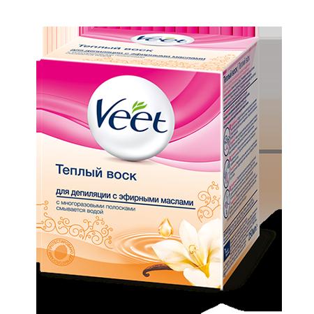 Теплый воск для депиляции с ароматными маслами veet
