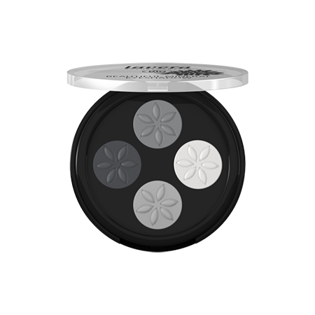 Прекрасные минеральные тени кватро тон 01 дымчатый серый lavera мужская нежная биопена для бритья lavera