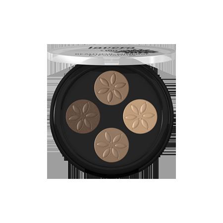Прекрасные минеральные тени кватро тон 02 каппучино крем lavera мужская нежная биопена для бритья lavera