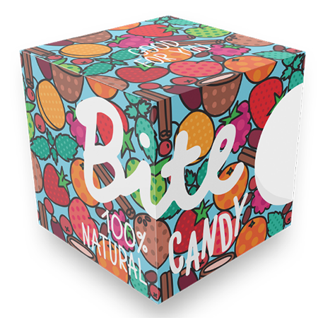 Набор фруктово-ягодных конфет candy blue bite love bite