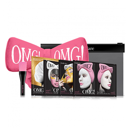 Набор spa из 4 масок, кисти и ярко-розового банта double dare omg! double dare omg набор spa из 4 масок кисти и нежно розового банта повязки