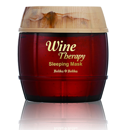 Ночная винная маска-желе с красным вином wine therapy sleeping mask red wine holika holika маска holika holika honey sleeping pack blueberry 90 мл