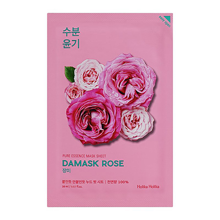 Увлажняющая тканевая маска pure essence mask sheet damask rose holika holika маска holika holika aloe 99% soothing gel jelly mask sheet