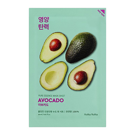 Смягчающая тканевая маска pure essence mask sheet avocado holika holika тканевая маска holika holika juicy mask sheet honey