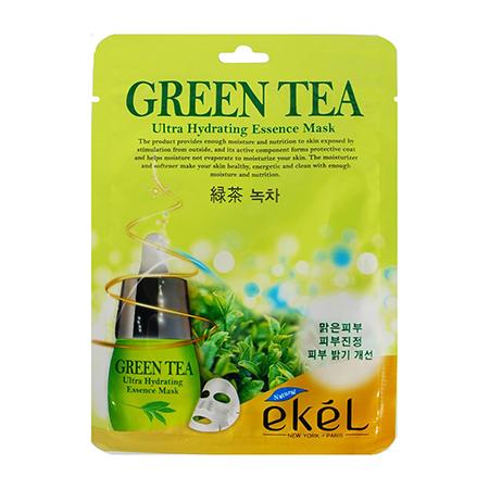 Маска тканевая с экстрактом зеленого чая ekel маска пленка с экстрактом граната ekel