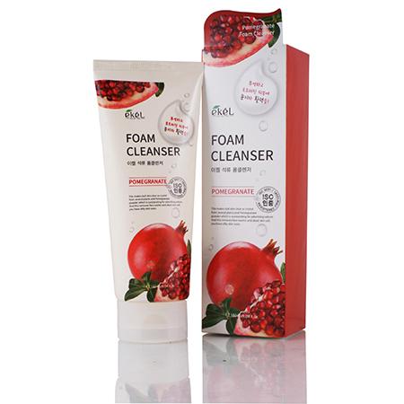 Пенка для умывания с экстрактом граната pomegranate foam cleanser ekel