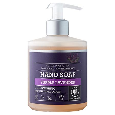 Органическое жидкое мыло для рук пурпурная лаванда urtekram