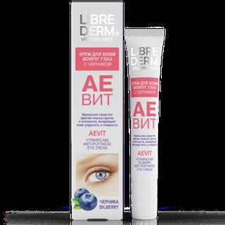 Аевит крем с черникой против отеков для кожи вокруг глаз 20 мл librederm витамины для регенерации кожи
