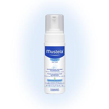 Пенка-шампунь для новорожденных mustela