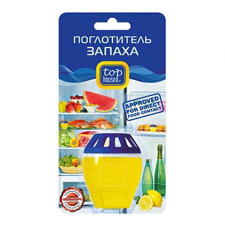 Поглотитель запаха лимон top house kokubo поглотитель запаха в гелевых шариках shosyuс запахом персика 150 г