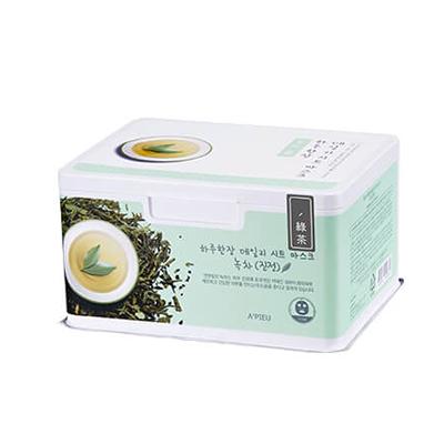 Купить Успокаивающие маски для лица с экстрактом зеленого чая daily sheet mask green tea soothing a'pieu, A'PIEU