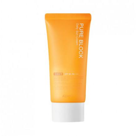Купить Солнцезащитный крем для лица pure block daily sun cream spf45 pa+++ a'pieu, A'PIEU