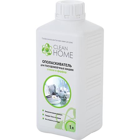 Ополаскиватель для посудомоечных машин стекло и фарфор 1000 мл clean home