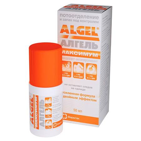 Алгель максимум дезодорант-антиперспирант длительного действия 50 мл