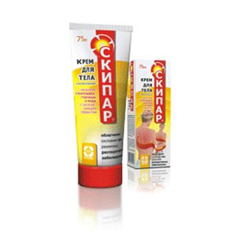 Крем массажный для тела с горчицей и экстрактом жгучего перца скипар (Скипар)