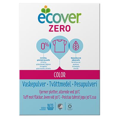 Экологический стиральный порошок zero (экономичный) для цветного белья ecover 40034