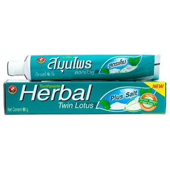 Растительная зубная паста (против воспалений) «плюс соль» twin lotus