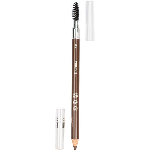 Пудровый карандаш для бровей №300 (серо-коричневый) pleyana