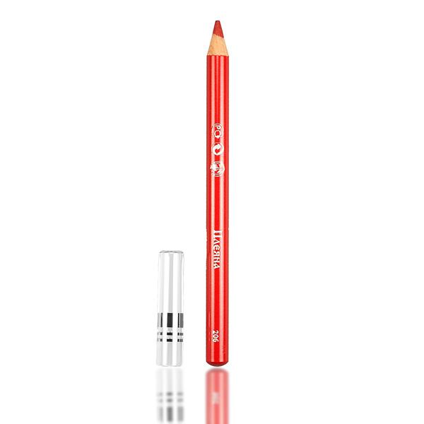 Карандаш для контура губ №206 (красный рубин, матовый ) pleyana