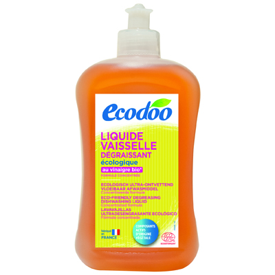 Средство для мытья посуды с уксусом ecodoo