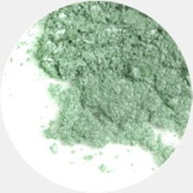 Минеральные тени для век frost (салатовый оттенок )