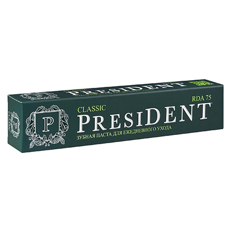 Зубная паста president классик ежедневная пленка тонировочная president 5% 0 5м х 3м