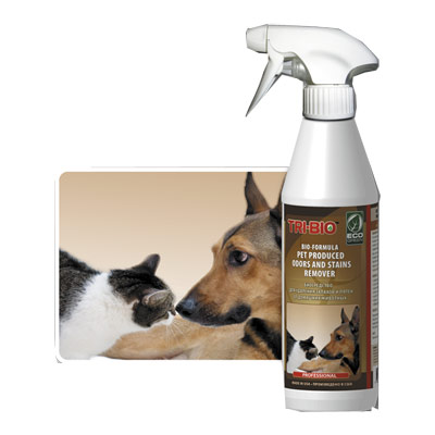 Биосредство от запахов и пятен от домашних животных tri-bio