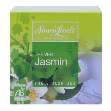 Чай зеленый байховый ароматизированный jasmine, simon levelt
