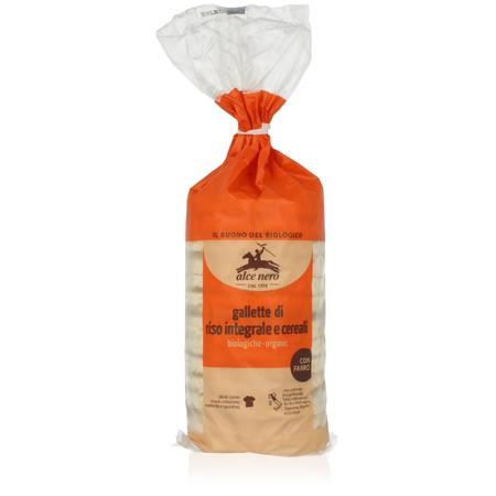 Рисовые хлебцы 4 злака alce nero
