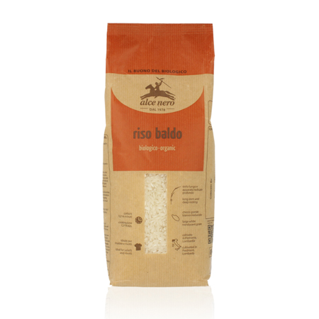 Белый органический рис baldo 1000 гр alce nero