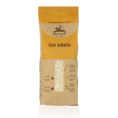 Белый органический рис arborio alce nero