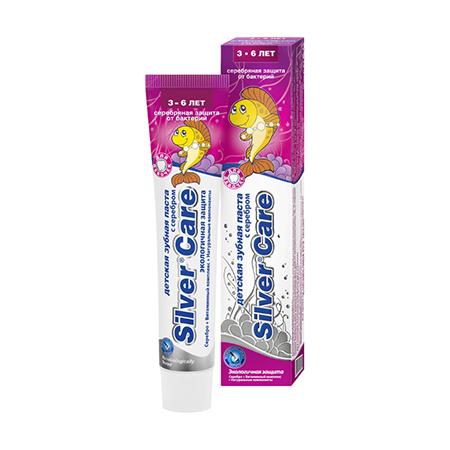 Зубная паста с серебром для девочек от 3 до 6 лет silver care