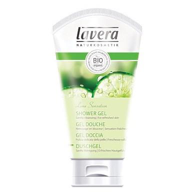 Био-гель для душа освежающий лайм & вербена lavera 5210