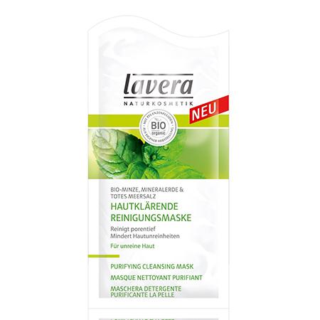 Био-маска для лица очищающая «мята» lavera очищающий био скраб для лица lavera
