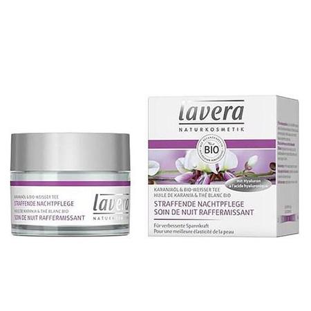 Био крем ночной разглазживающий белый чай масло каранджи lavera мягкий био тоник для лица lavera