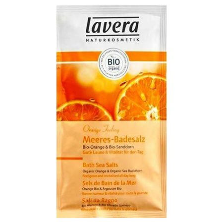 Морская соль для принятия ванн «апельсиновые чувства» lavera (Lavera)