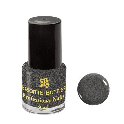 Лак для ногтей (оттенок 37, темно-серый искрящийся) professional nails brigitte bottier