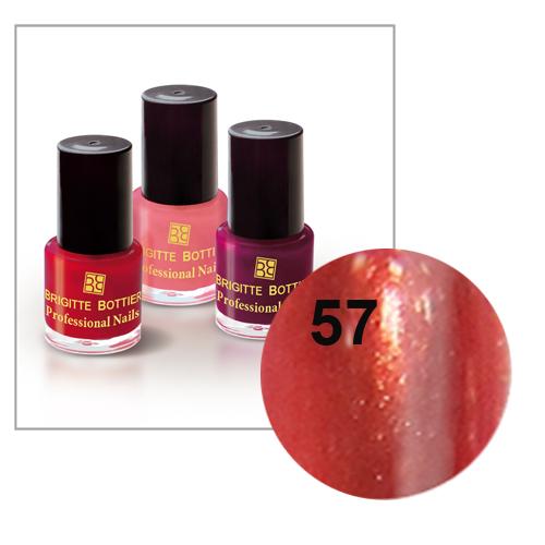 Лак для ногтей (оттенок 57, терракотовый искрящийся) professional nails brigitte bottier