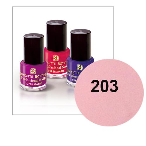 Лак для ногтей с матовым эффектом (оттенок 203, натурально-розовый) prof nails matte brigitte bottier DeoShop 129.000