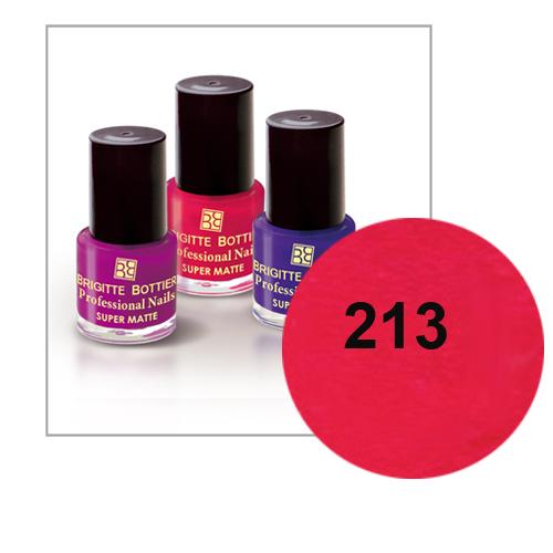 Лак для ногтей с матовым эффектом (оттенок 213, вишневый) prof nails matte brigitte bottier