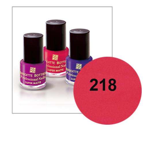 Лак для ногтей с матовым эффектом (оттенок 218, брусничный) prof nails matte brigitte bottier