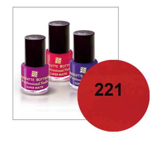 Лак для ногтей с матовым эффектом (оттенок 221, темно-терракотовый) prof nails matte brigitte bottier