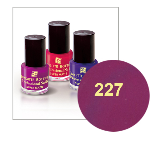 Лак для ногтей с матовым эффектом (оттенок 227, темно-сиреневый) prof nails matte brigitte bottier
