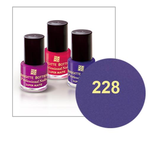 Лак для ногтей с матовым эффектом (оттенок 228, светло-фиолетовый) prof nails matte brigitte bottier