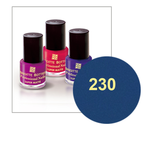 Лак для ногтей с матовым эффектом (оттенок 230, синий) prof nails matte brigitte bottier