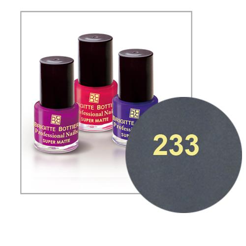 Лак для ногтей с матовым эффектом (оттенок 233, стальной) prof nails matte brigitte bottier