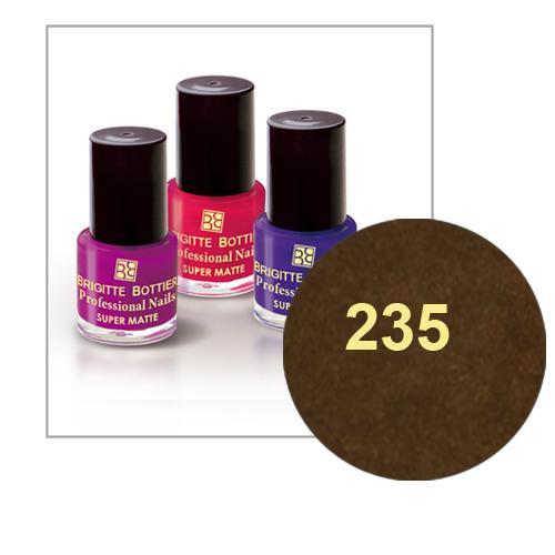 Лак для ногтей с матовым эффектом (оттенок 235, шоколадный перламутр) prof nails matte brigitte bottier
